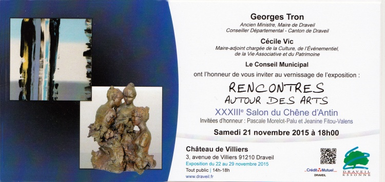 salon du chene d'antin 2015 23eme carton invitation